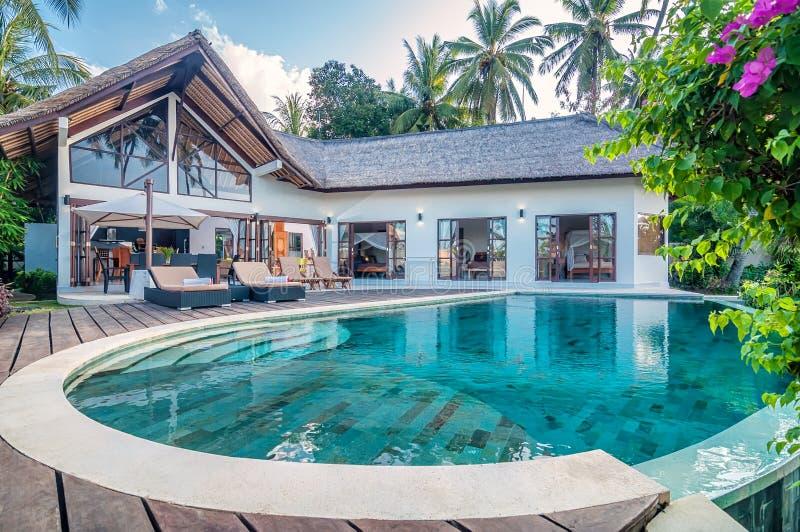 Chalet Bali de cinco estrellas foto de archivo