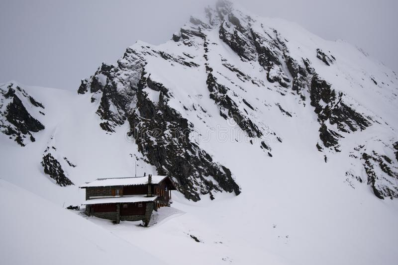 Chalet and Mountain stock images