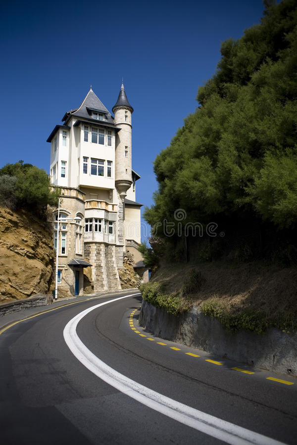 Chalet Belza en Biarritz imagen de archivo libre de regalías