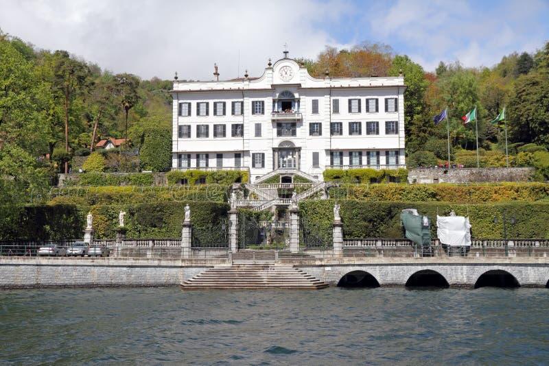Chalet Carlotta en el lago Como imagenes de archivo