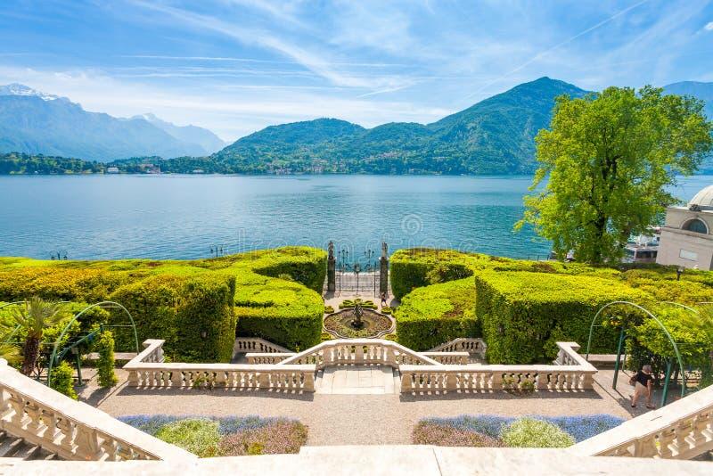 Chalet Carlotta en Tremezzo en el lago Como Italia imágenes de archivo libres de regalías