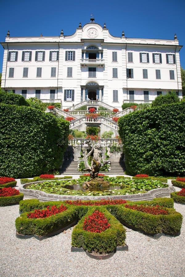 Chalet Carlotta, lago Como, Italia imagen de archivo libre de regalías