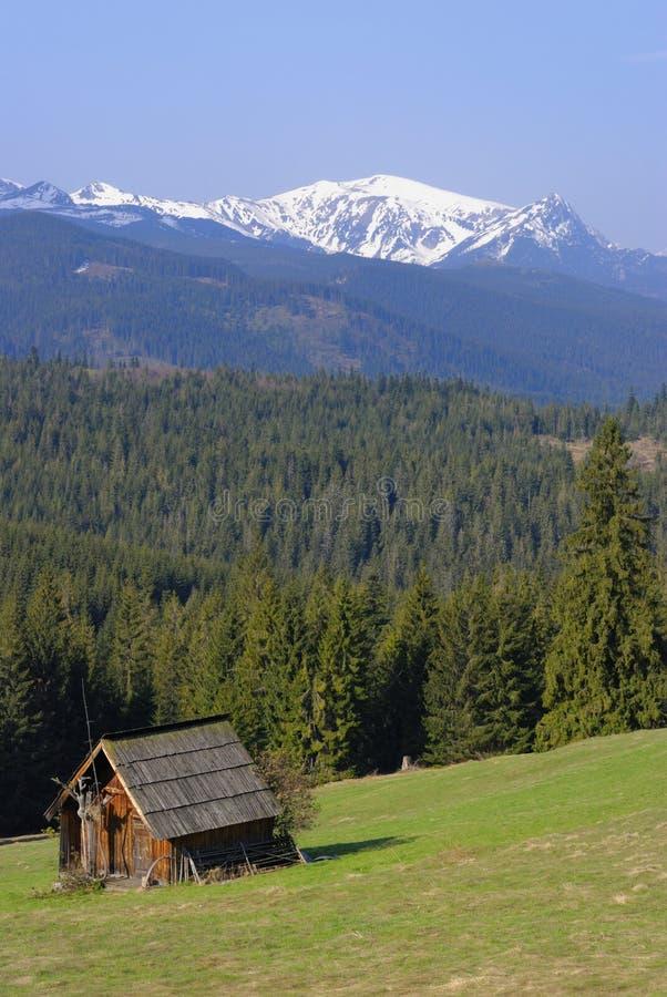 Chalet de la montaña en Tatras fotografía de archivo libre de regalías