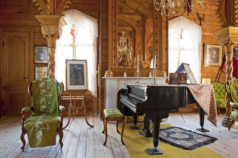 Chalet del virtuoso noruego Ole Bull del violín en la isla de Lysoen, Bergen fotos de archivo libres de regalías