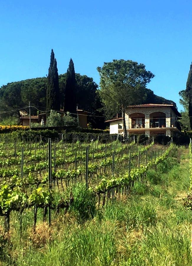 Chalet en Toscana fotos de archivo