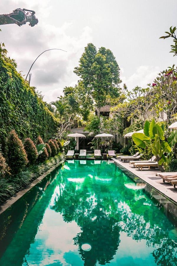 Chalet en Ubud, Bali, Indonesia, Asia foto de archivo