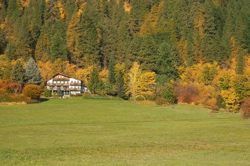 Download Chalet At Foot Of Mountains Stock Photo - Image: 16612118