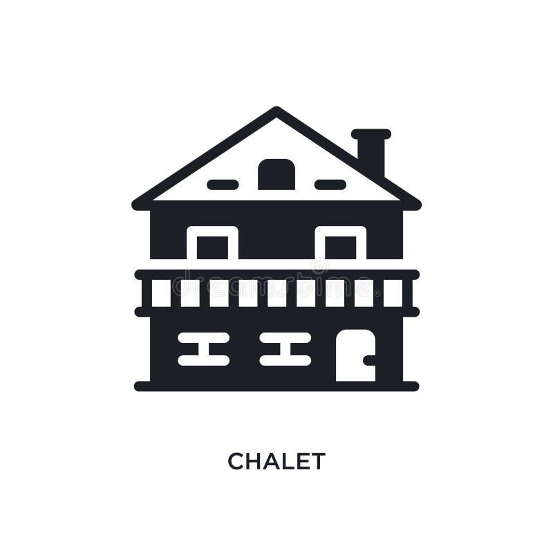 chalet isolerad symbol enkel beståndsdelillustration från vinterbegreppssymboler för logotecken för chalet redigerbar design för  royaltyfri illustrationer