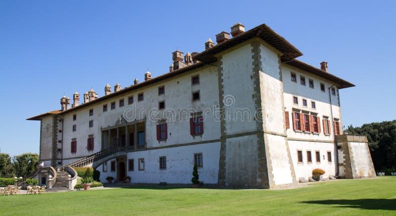 Chalet Medici en Artimino imagen de archivo libre de regalías