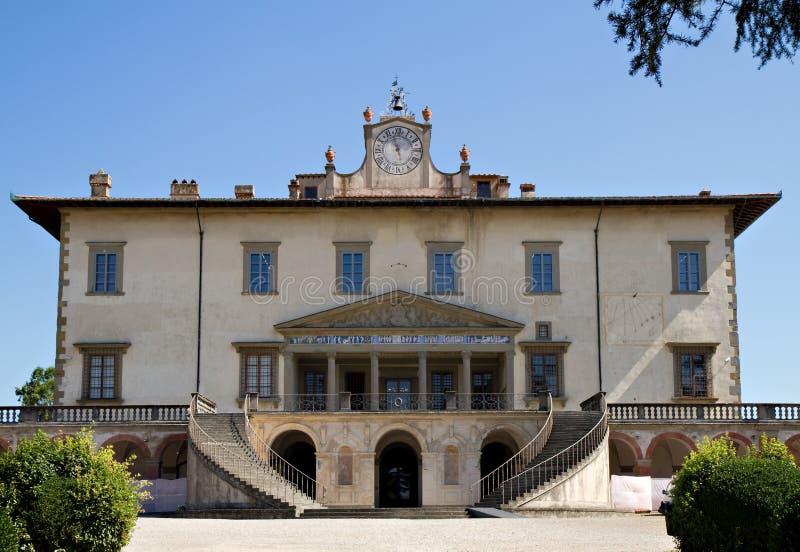 Chalet Medici Poggio un Caiano fotografía de archivo libre de regalías