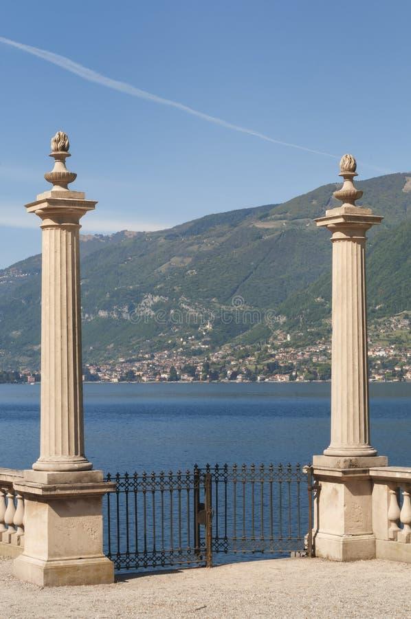 Chalet Melzi, Bellagio, lago Como, Italia imagen de archivo libre de regalías