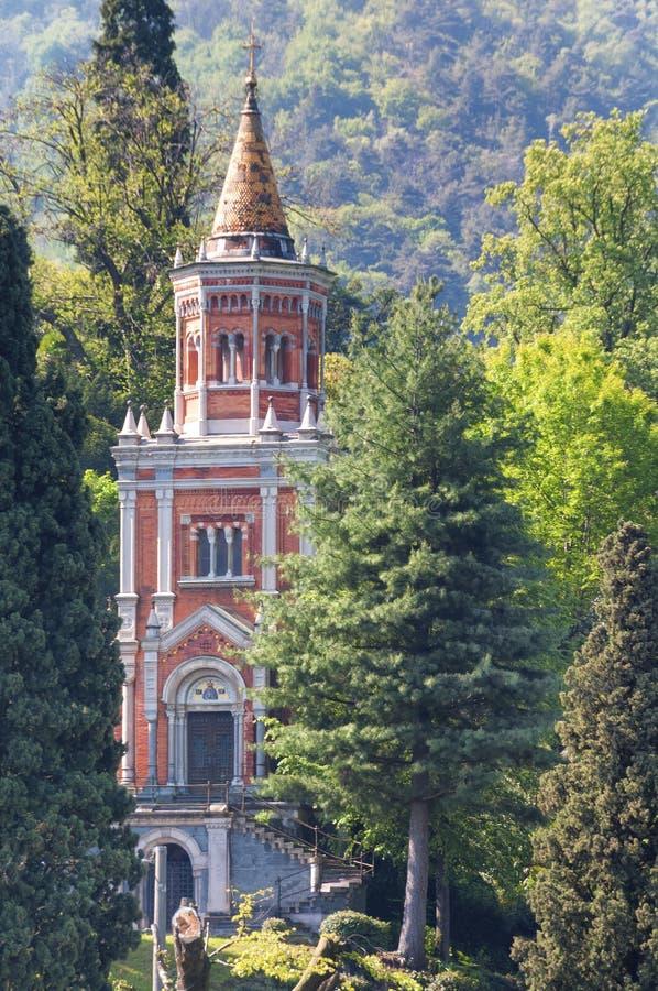 Chalet Melzi, Bellagio, lago Como, Italia imagen de archivo