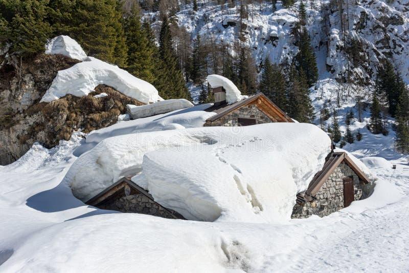 Chalet Nevado imagen de archivo