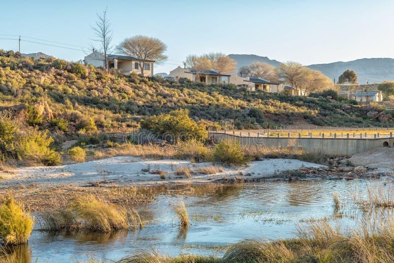 Chalet på den Sanddrif feriesemesterorten i Cederbergen fotografering för bildbyråer