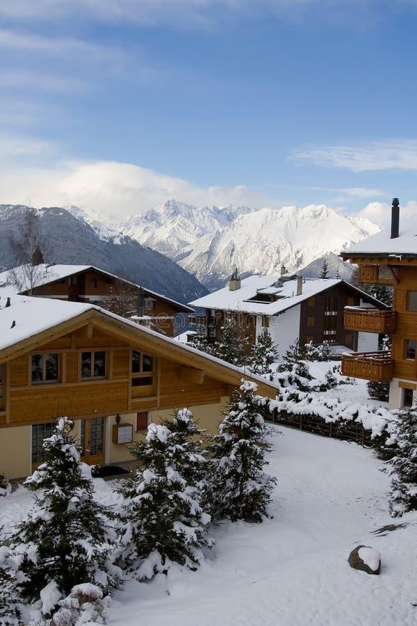 Chalet suisse 2 photo stock