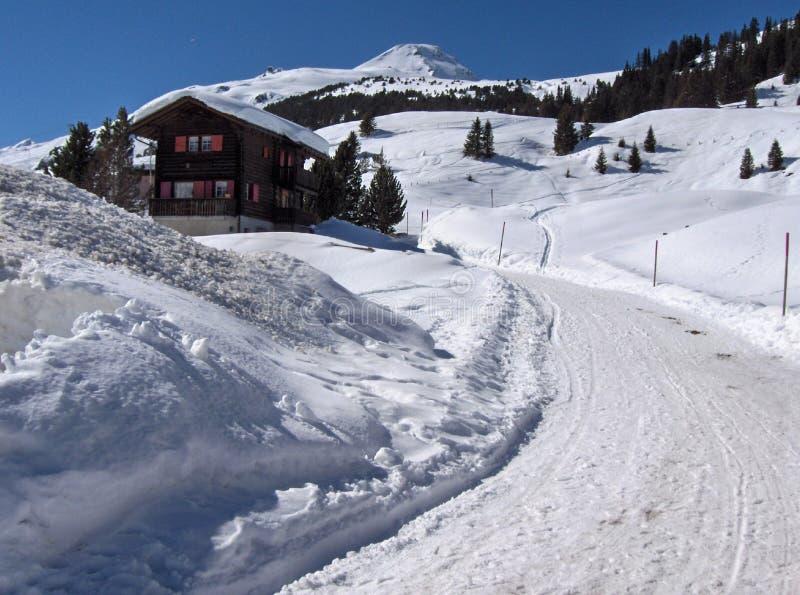 Chalet suizo fotografía de archivo