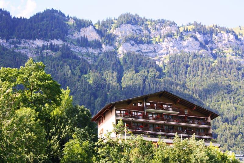 Chalet svizzero immagini stock