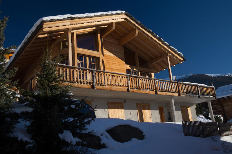 Mountain chalet stock images