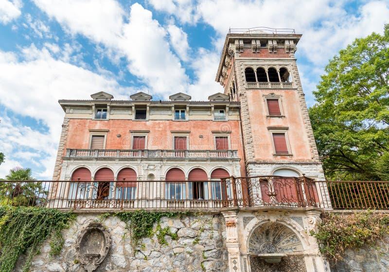Chalet Toeplitz en Varese, Italia foto de archivo libre de regalías