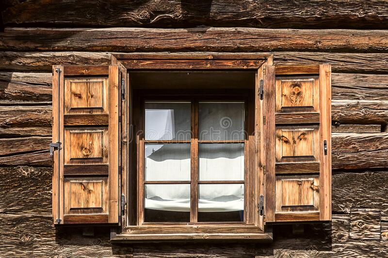Chalet window stock image