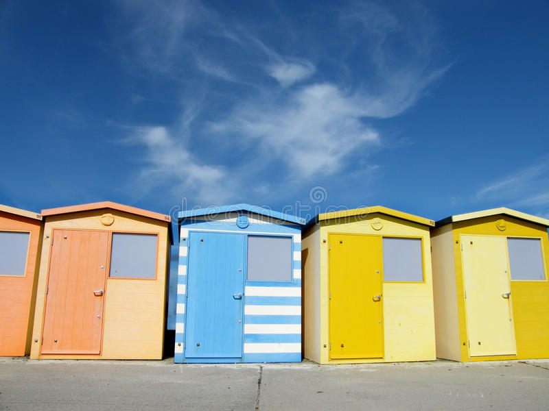 Chalets de la playa de Seaford imagen de archivo