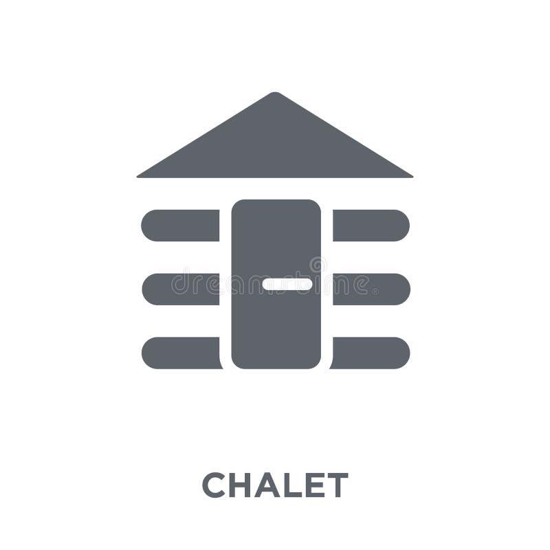 Chaletsymbol från samling royaltyfri illustrationer