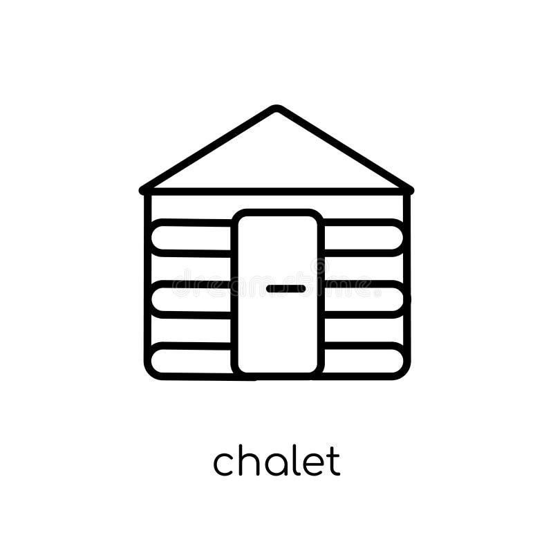 Chaletsymbol från samling stock illustrationer