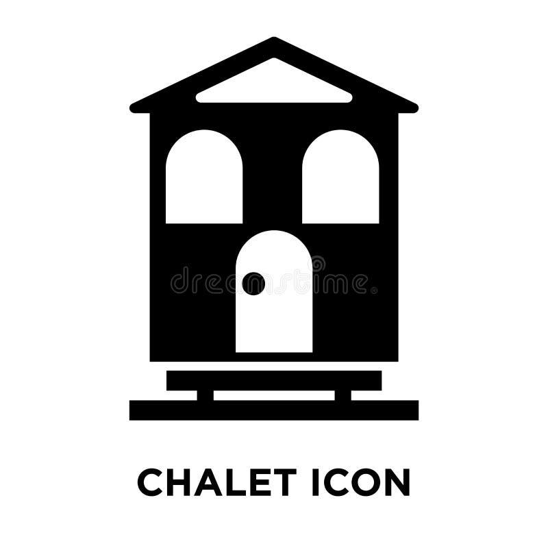 Chaletsymbolsvektor som isoleras på vit bakgrund, logobegrepp av stock illustrationer