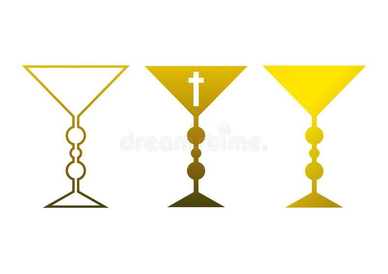 chalice золотистый иллюстрация штока