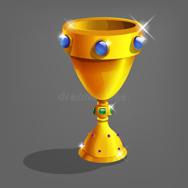 chalice золотистый также вектор иллюстрации притяжки corel бесплатная иллюстрация