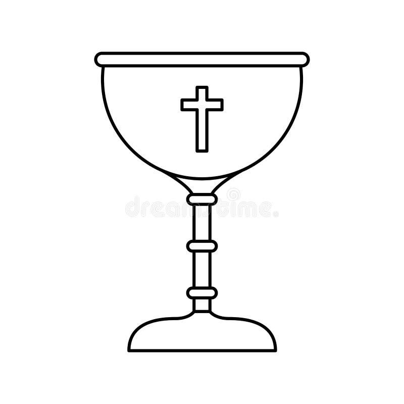 Chalice first communion icon. Illustration design royalty free illustration