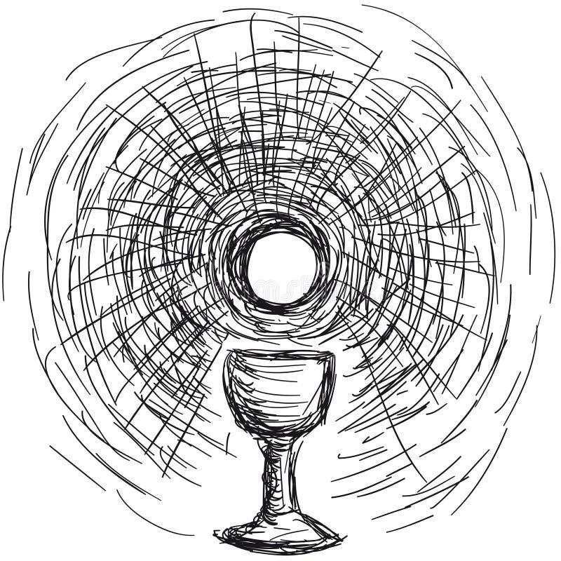 chalice gospodarz ilustracji