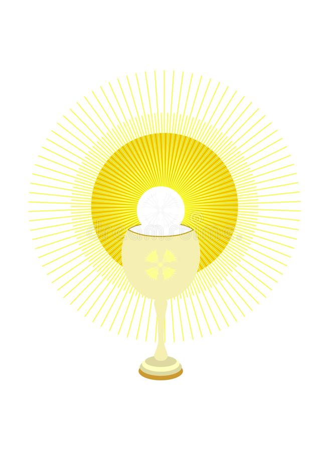 Download Chalice and Holy Host stock vector. Image of yellow, gold - 16920858