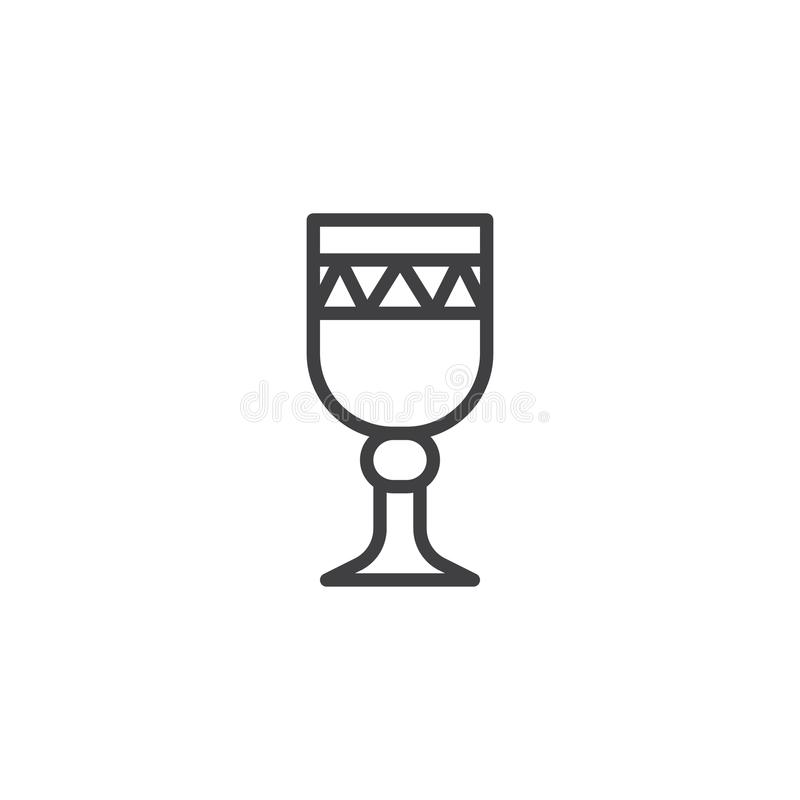 Chalice outline icon vector illustration