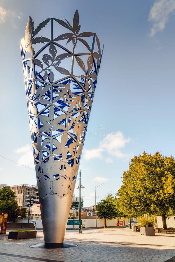 Christchurch, Chalice sculpture, New Zealand stock photo