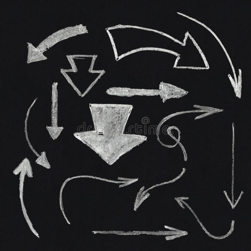 chalk arrow set stock vector