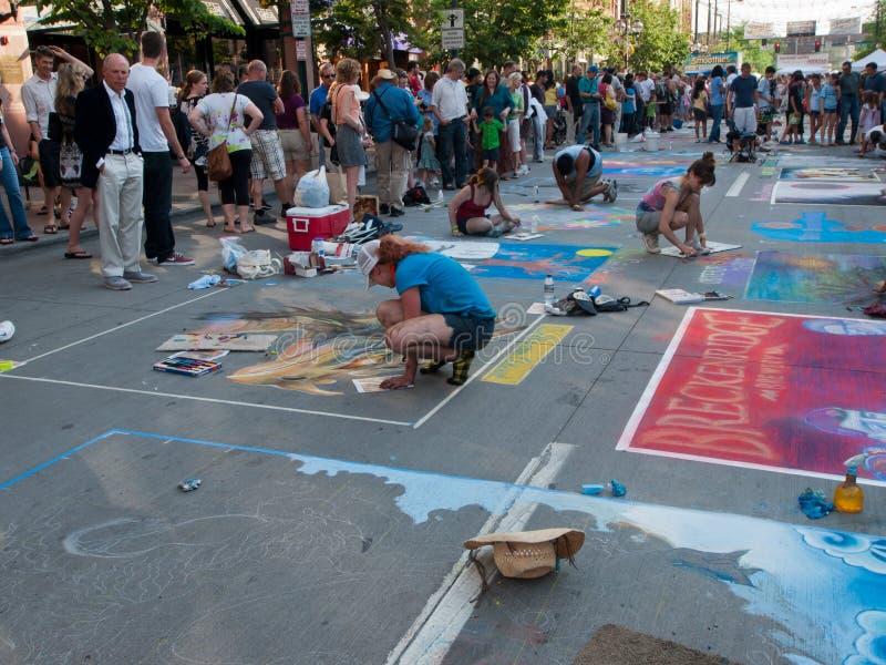 Chalk Art Festival stock images
