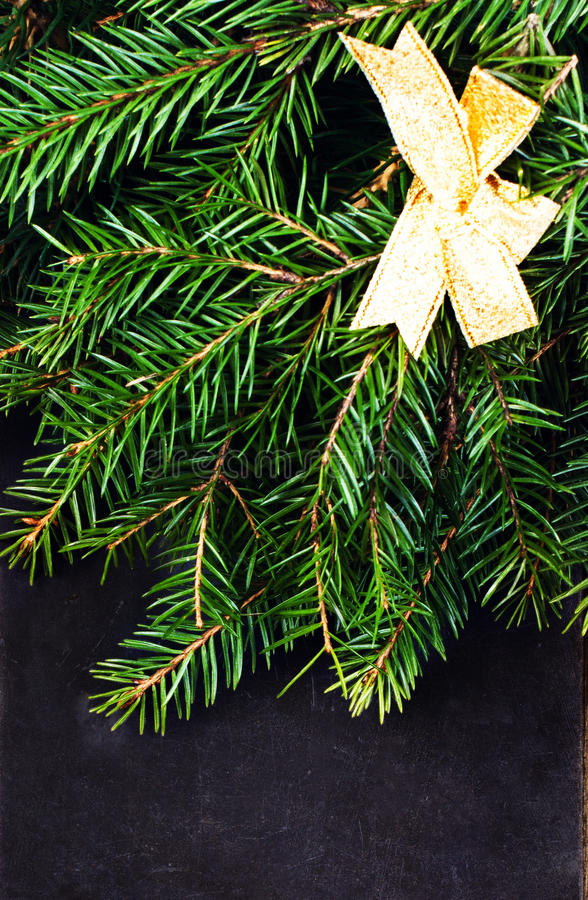 Download Chalk Board With Fir Branch And Christmas Decoration. Christmas Stock Images - Image: 35409124