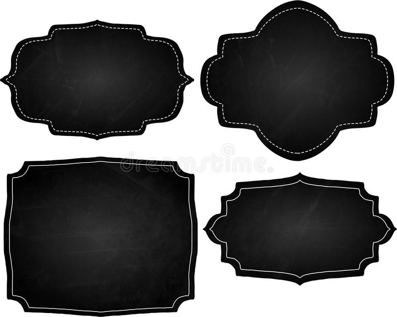 Chalk Board Frames stock illustration