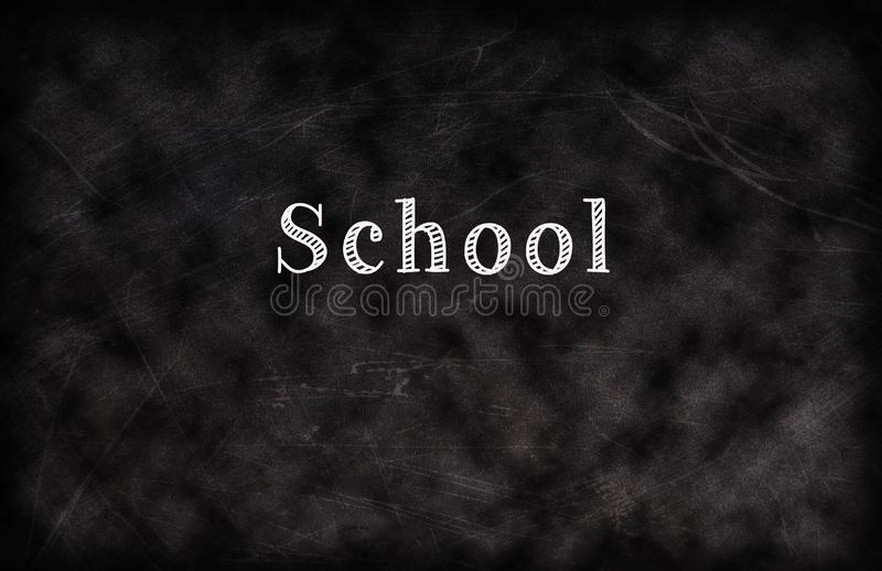 Chalk board with words stock images