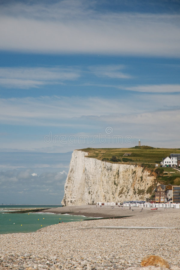 Download Chalk cliffs stock photo. Image of houses, normandy, beach - 9042580