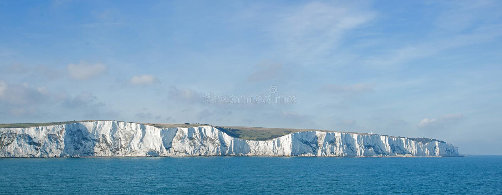 Chalk cliffs at Dover stock images