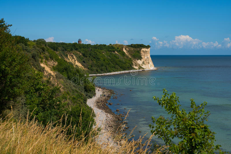 The chalk cliffs of Kap Arkona stock images