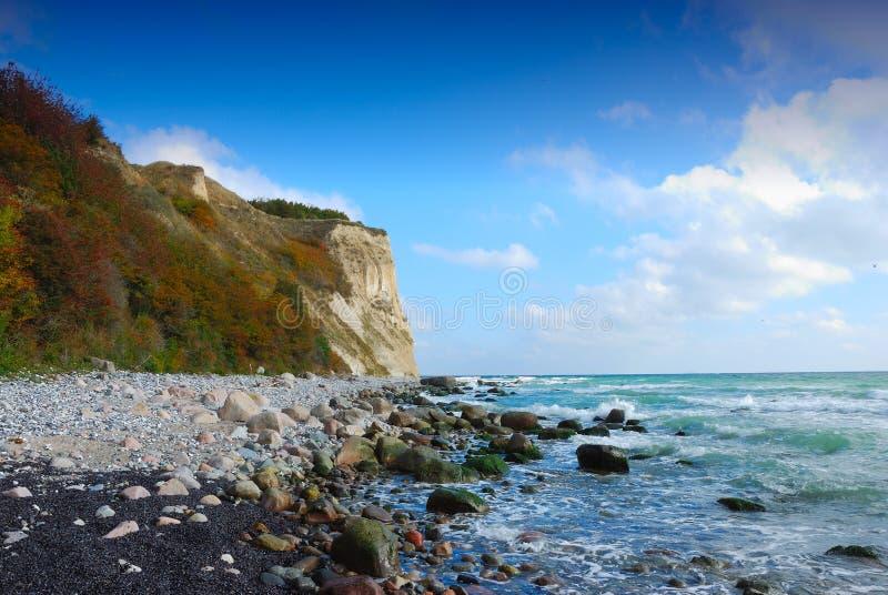 Chalk cliffs (Ruegen, Germany) royalty free stock photography