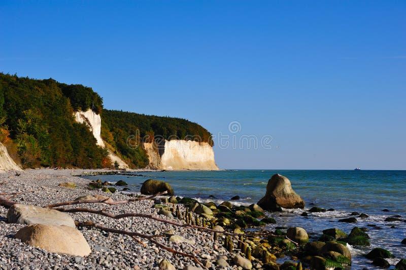 Chalk cliffs (Ruegen, Germany) stock image