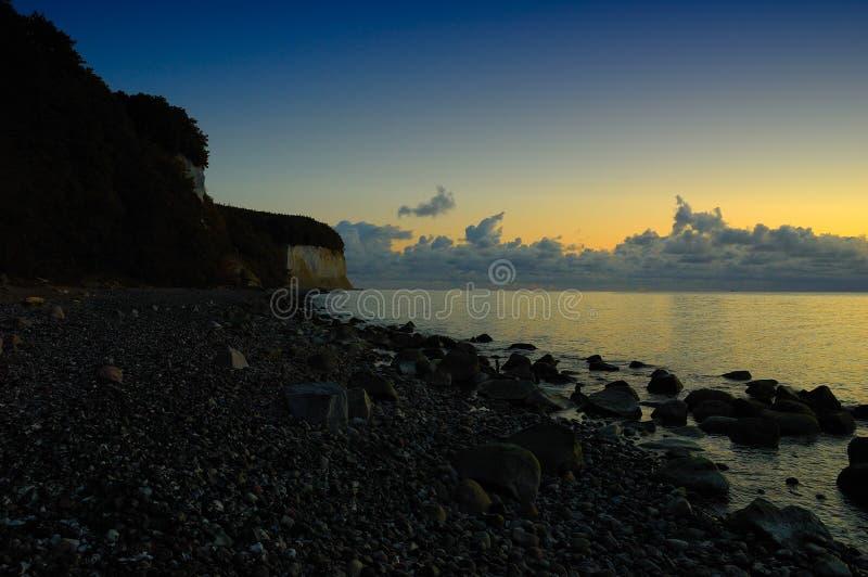 Chalk cliffs (Ruegen, Germany) royalty free stock image