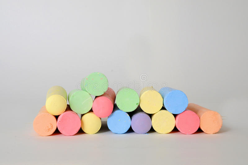 Chalk crayons royalty free stock photo