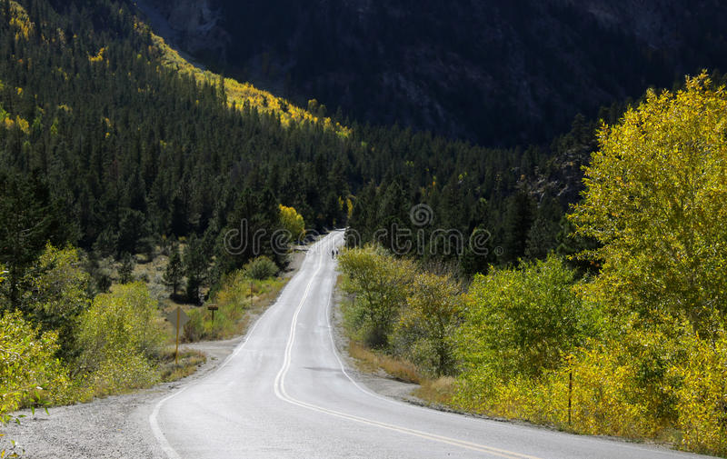 Chalk creek drive. In Colorado during autumn time royalty free stock photo
