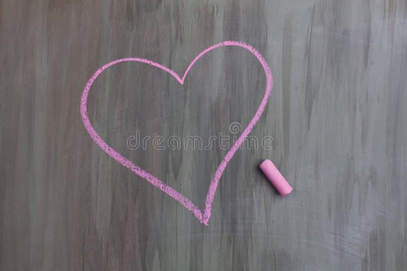Chalk drawing heart shape stock photos