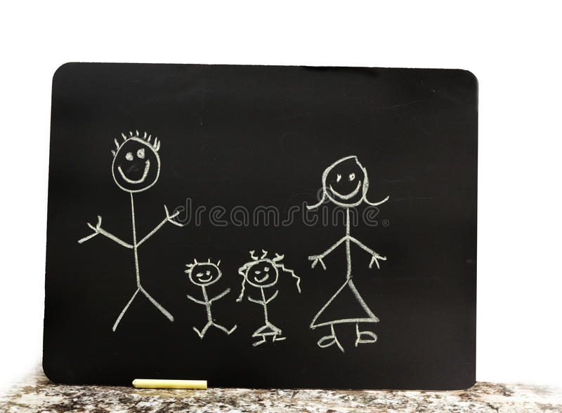 Download Chalk Family Royalty Free Stock Image - Image: 12270156